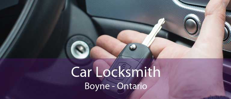 Car Locksmith Boyne - Ontario